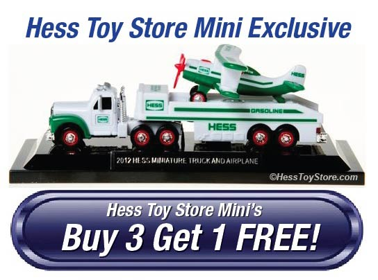 Hess Toy Buy 3 Get 1 Free