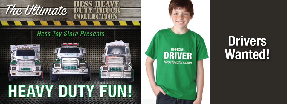Hess Toy Truck Heavy Duty Collection with T-Shirt